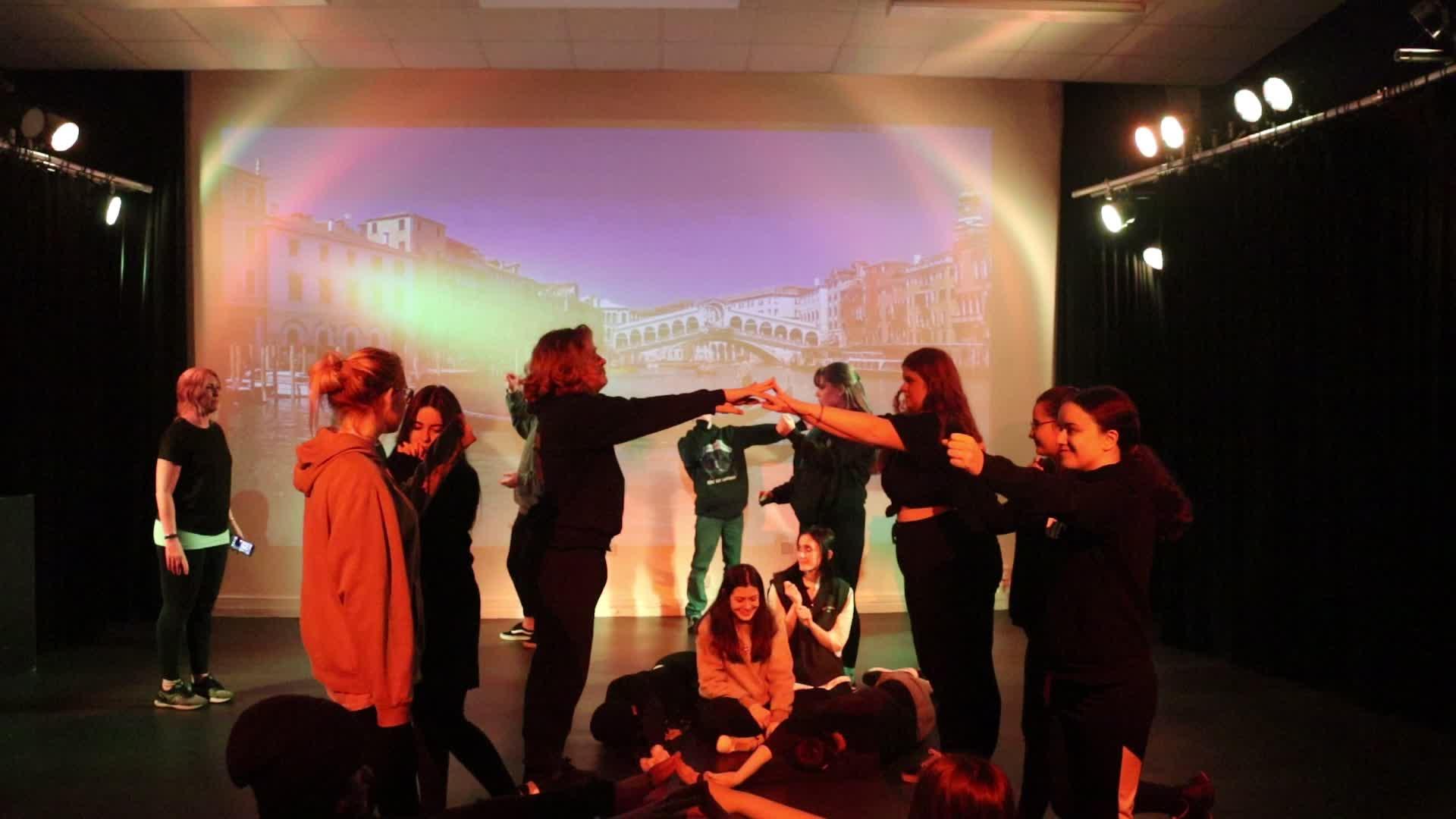 Setting the scene devised/rehearsal