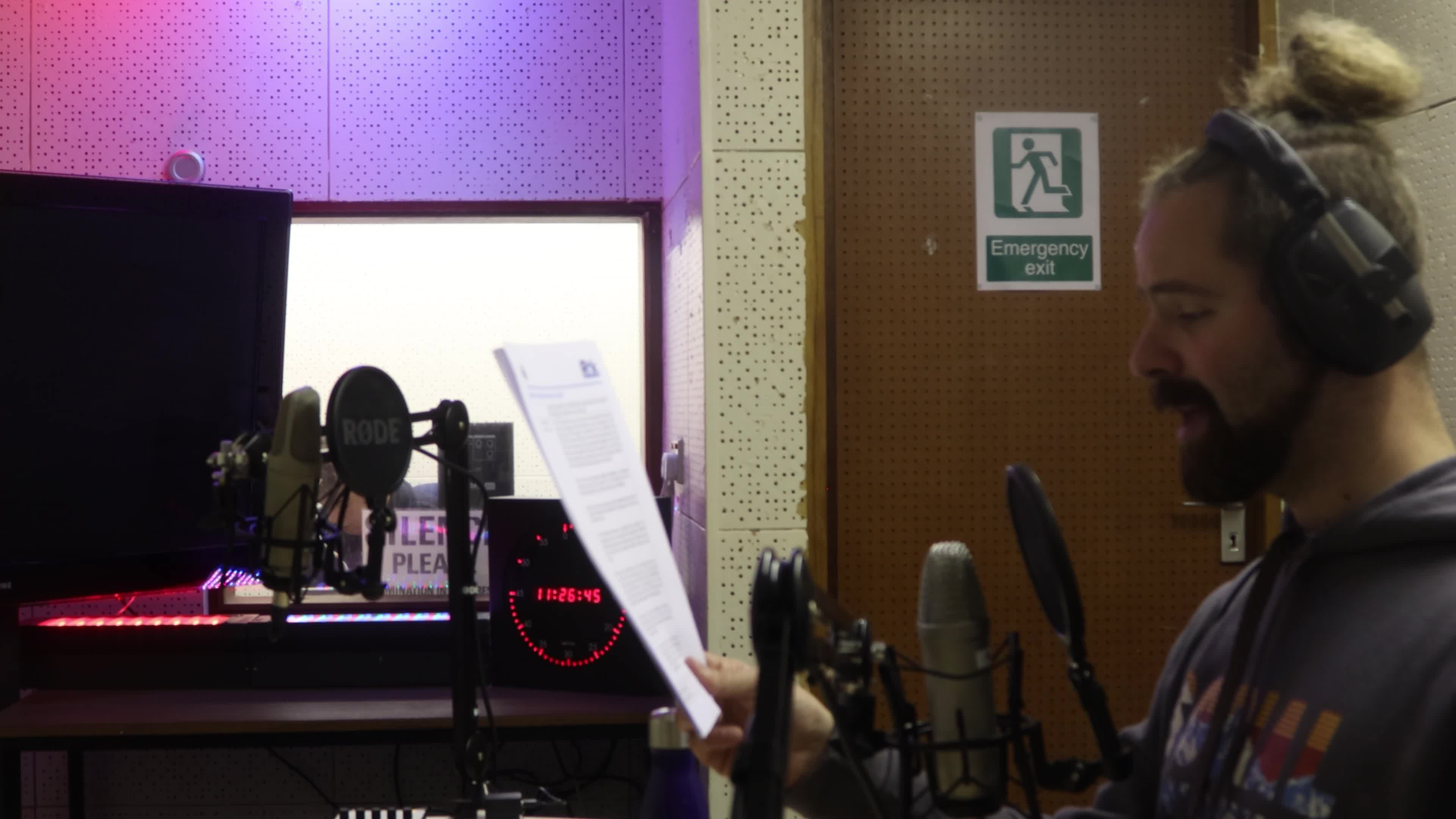 Sam voiceover video recording